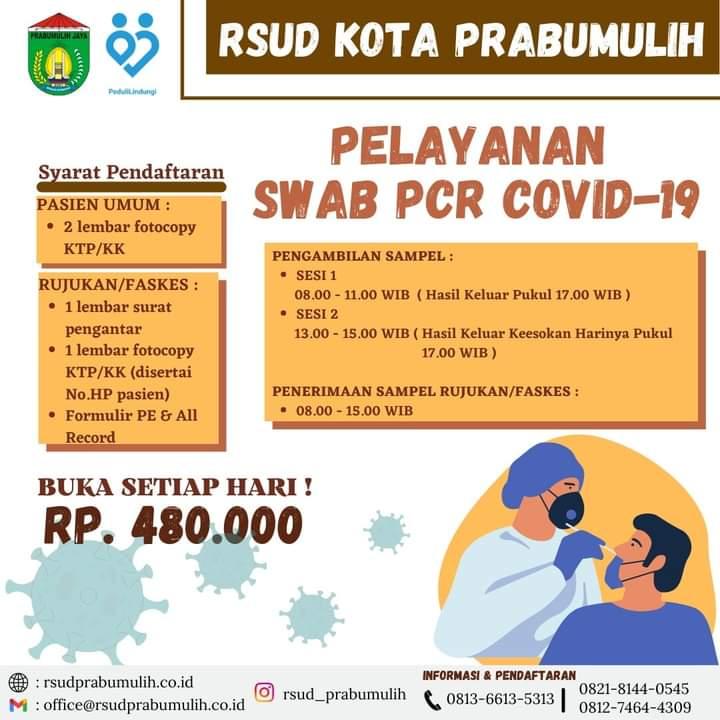 RSUD Kota Prabumulih Telah Membuka Pelayanan SWEB PCR