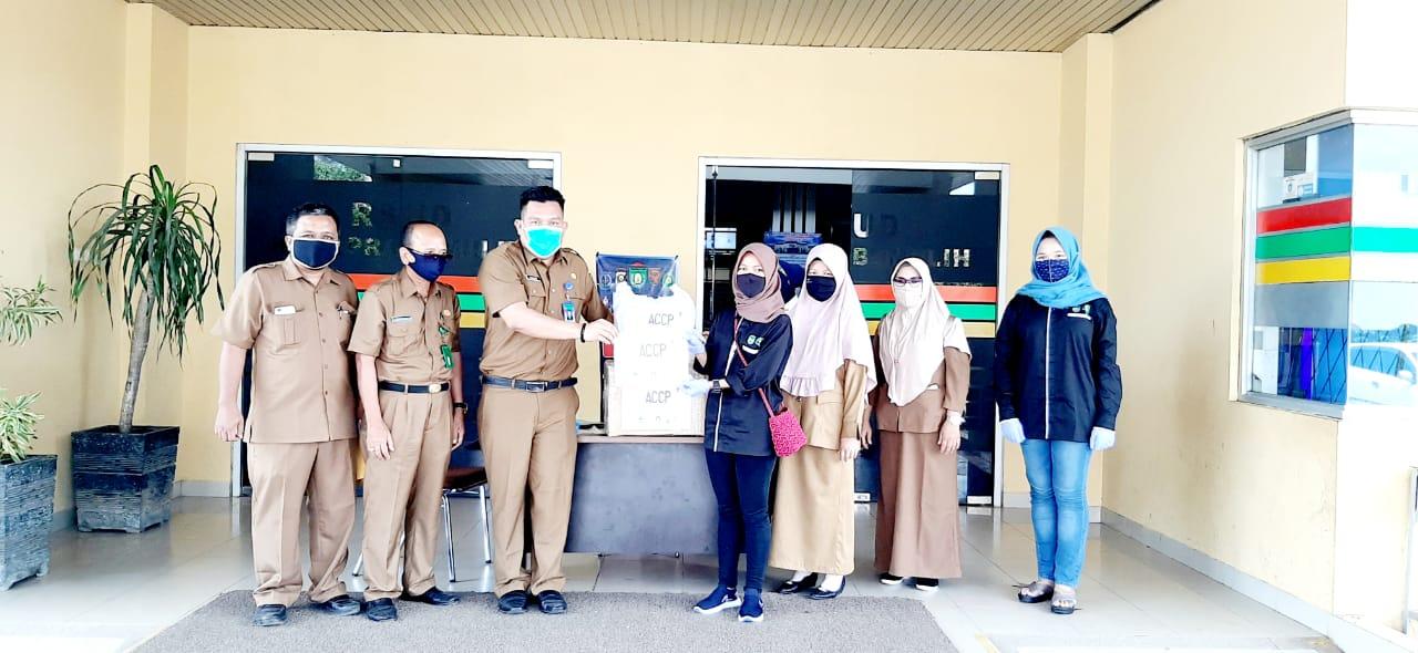 Daftar Bantuan APD ke RSUD Kota Prabumulih Terus Mengalir Untuk Memutus Rantai Covid-19